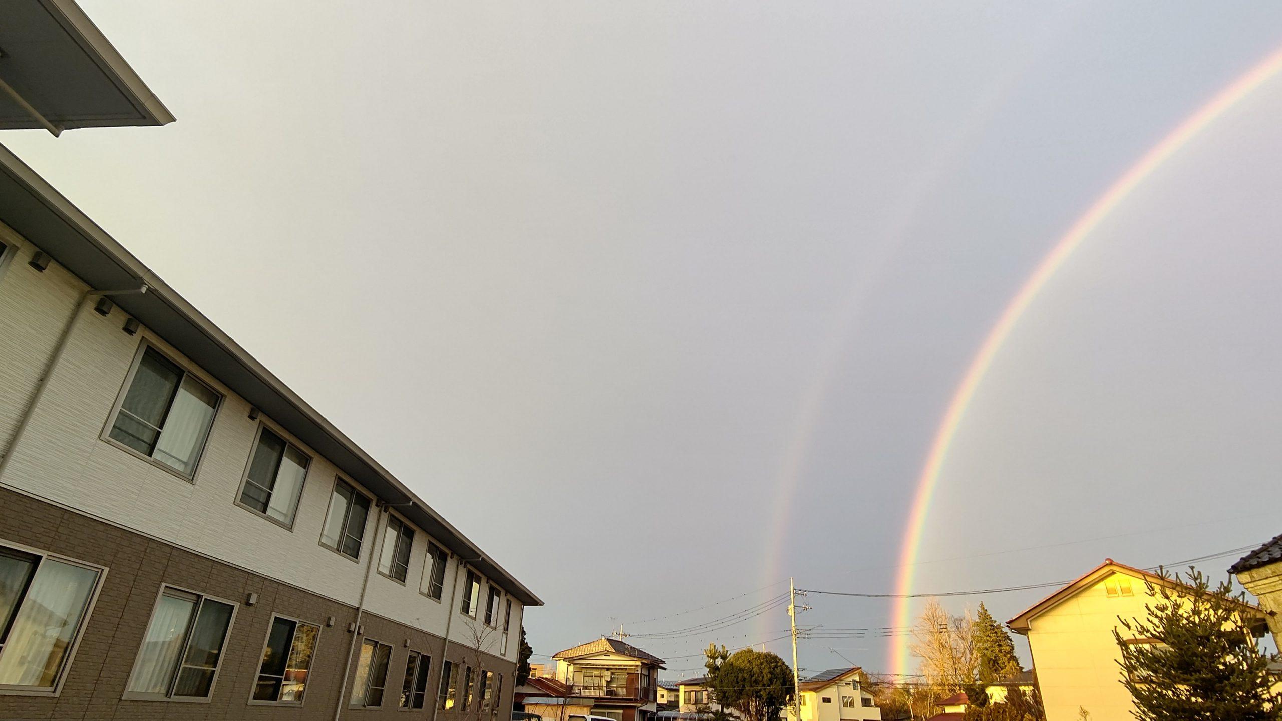 雨のち晴れ~宇都宮の空に架かる虹~